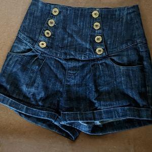 Younique jean shorts sailor style